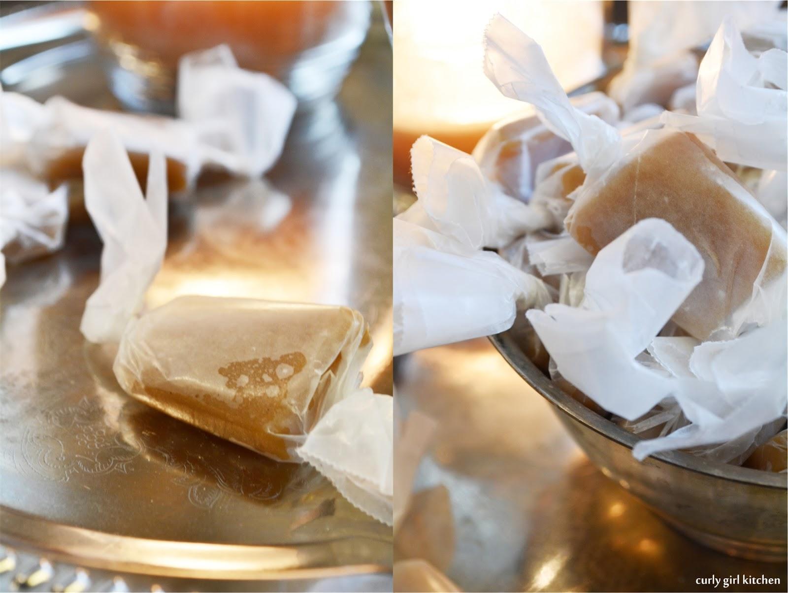 Curly Girl Kitchen: Vanilla Bean Salted Caramels