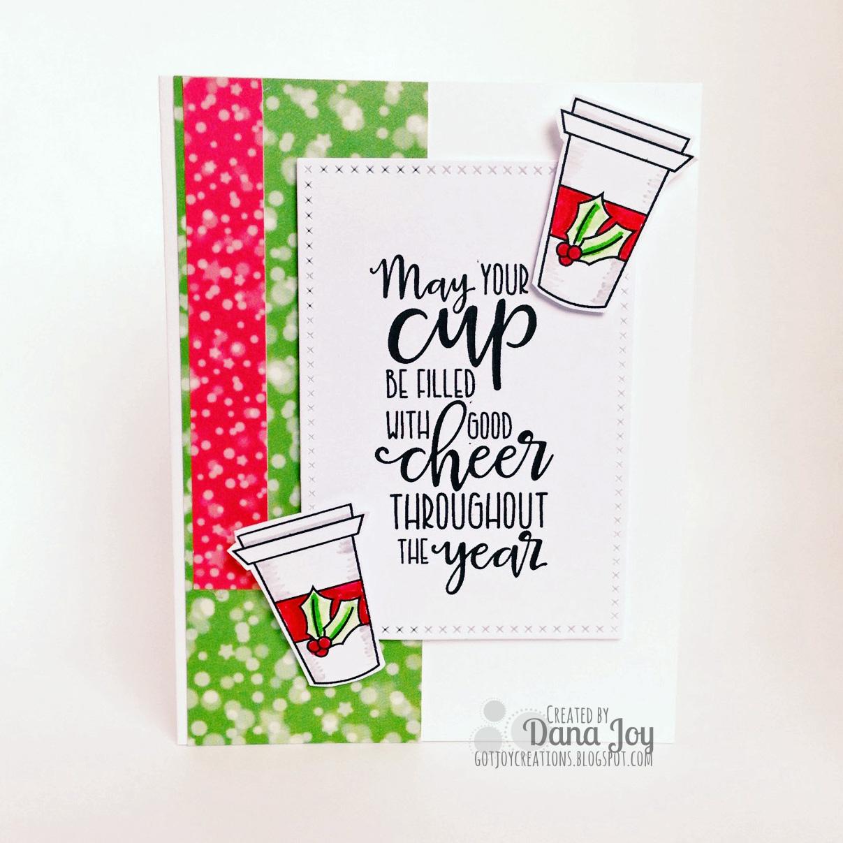 Coffee inspired holiday card got joy creations by dana joy coffee inspired holiday card kristyandbryce Choice Image