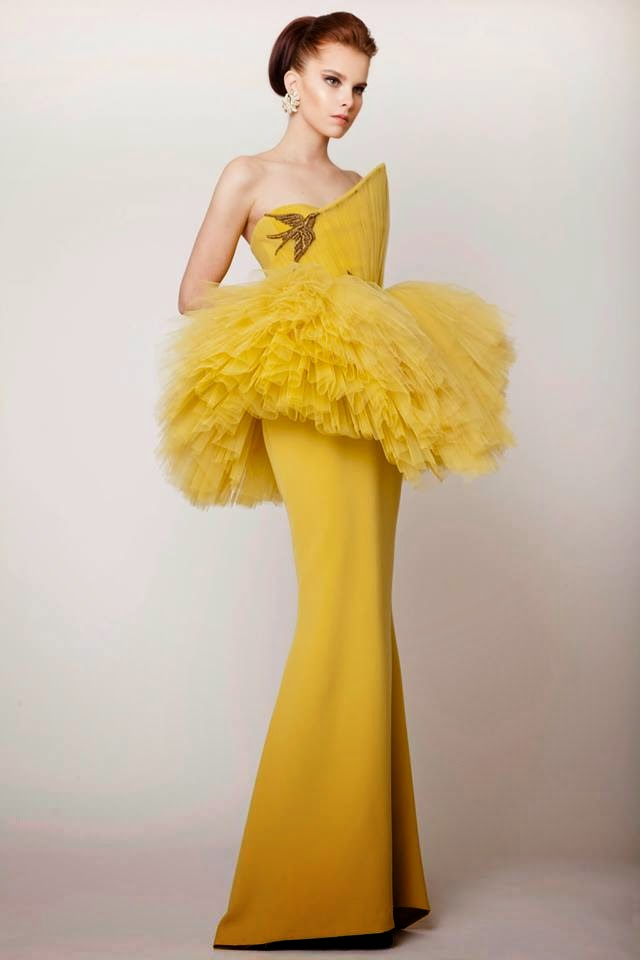 Azzi Osta evening dresses 2015 spring summer collection