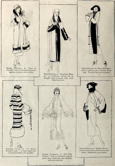 1920's winter coats movie star hollywood bebe daniels norma talmadge