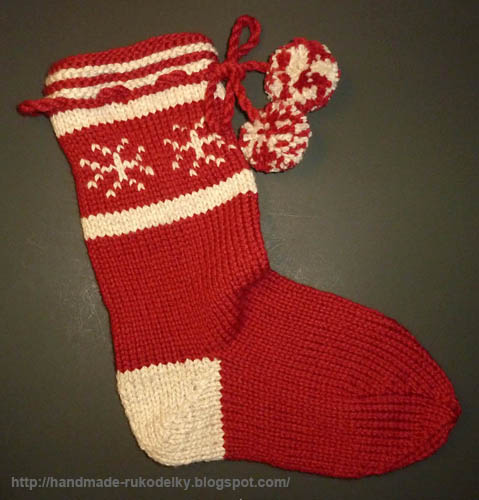Hand Made Rukodelky Knitted Christmas Stocking Pattern
