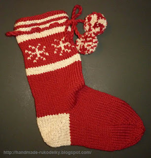 Knitted Stocking Pattern : HAND MADE - RUKODELKY: Knitted Christmas Stocking Pattern
