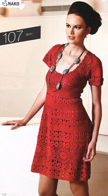 вязание крючком, платье, платье ажурное,