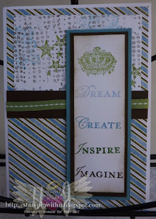 Dream Create Inspire Imagine Male Card