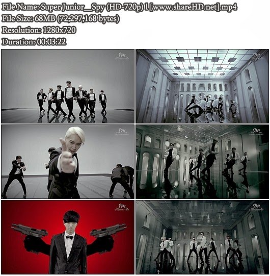 Download MV Super Junior (슈퍼주니어) - Spy (HD 720p)