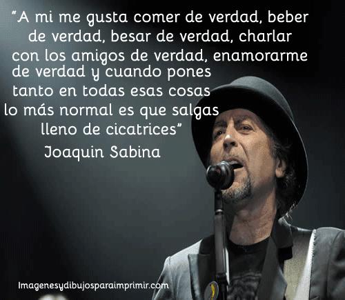 Imagen con frase de Joaquin Sabina