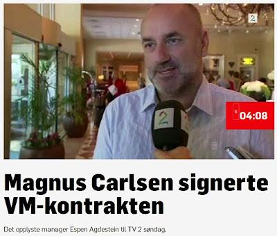 Echecs : Espen Agdestein, l'agent de Magnus Carlsen