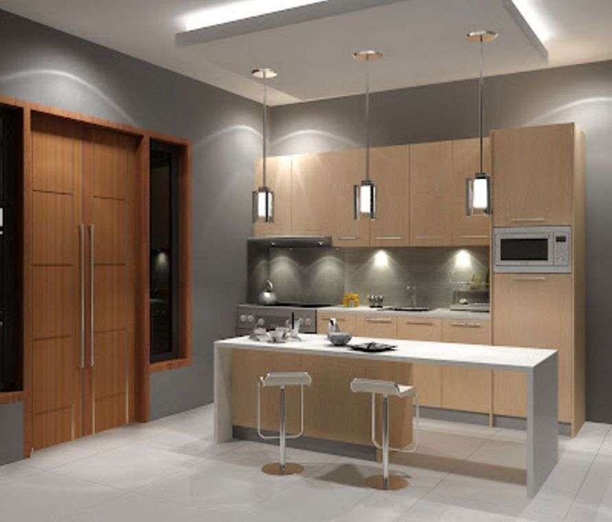 contoh desain interior dapur rumah minimalis 2 yang menarik