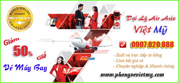 Đại lý vé máy bay Air Asia quận Tân Bình
