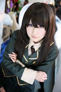 Hiokichi cosplay as Mikazuki Yozora from Boku wa Tomodachi ga Sukunai