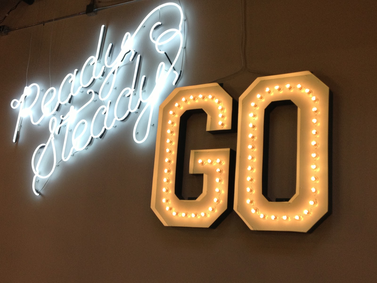 Pinterest Headquarters:  Ready, Steady, Go Neon Sign