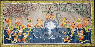 Patachitra Art Dancing Krishna