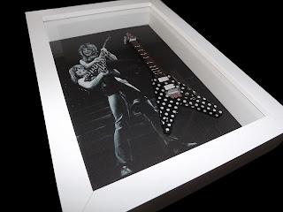 Quadro Mini Guitarra Randy Rhoads - Ozzy Osbourne