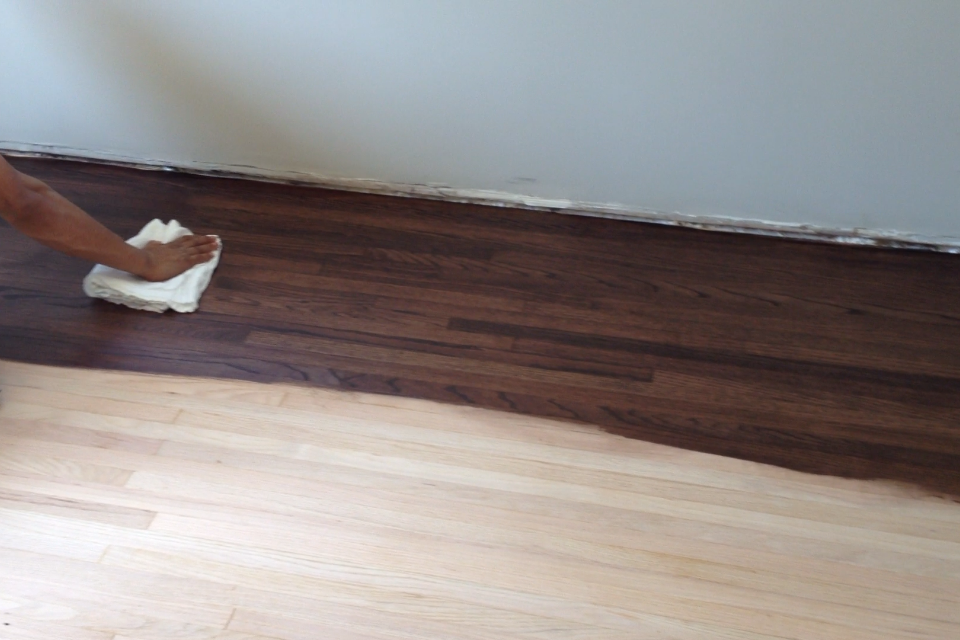 Changing wood floor color