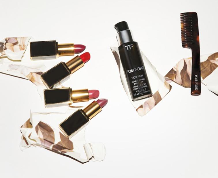 Tom Ford lipsticks & fragranced beard oil & comb