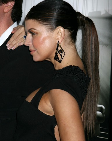 straight ponytail hairstyles : Long Straight Ponytail Hairstyles - celebrity Ponytail hairstyle ideas
