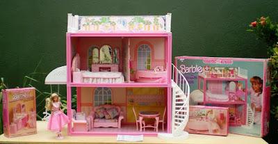 brinquedos anos 90 casa da barbie