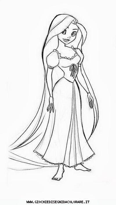 Rapunzel disegni da colorare for Disegni barbie da colorare gratis