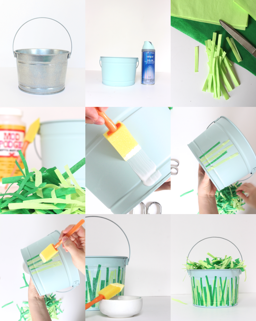 Step by step instructions that anyone can follow for a fun, cheap, and cute Easter craft!