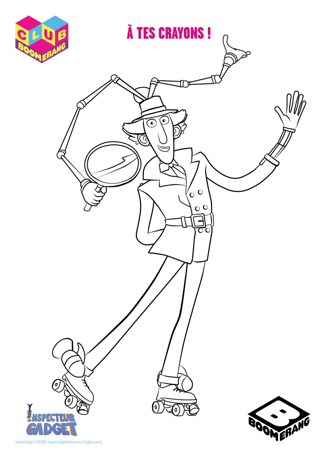 Worksheet. Inspector Gadget Blog Fan AdelanteGadgetoblog Go Go Gadget Colour