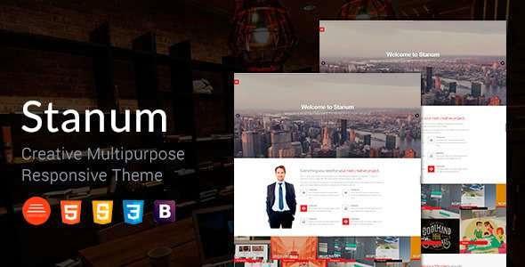 Stanum - Responsive Bootstrap WordPress Theme