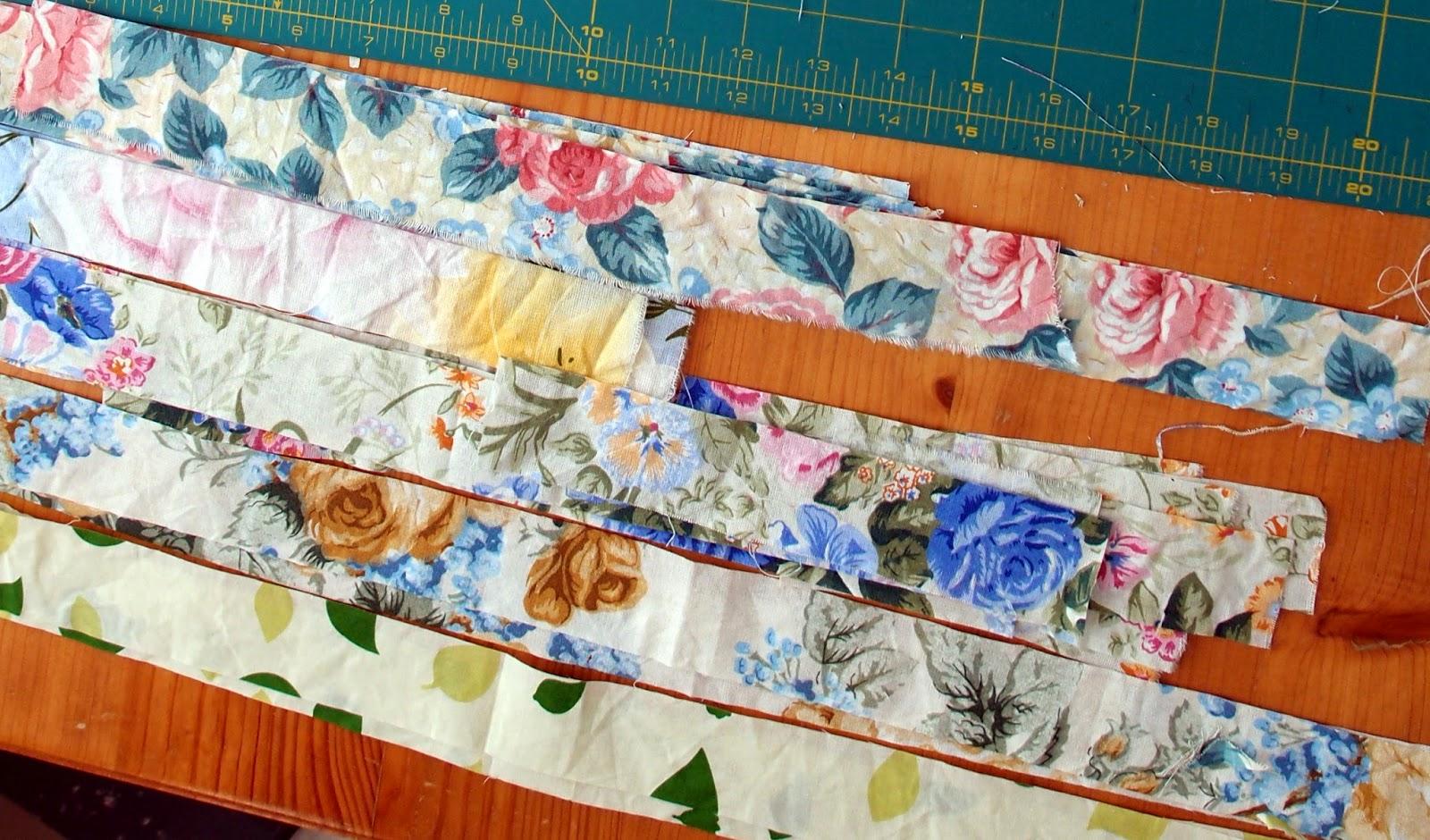 Flower Garden Quilt strips