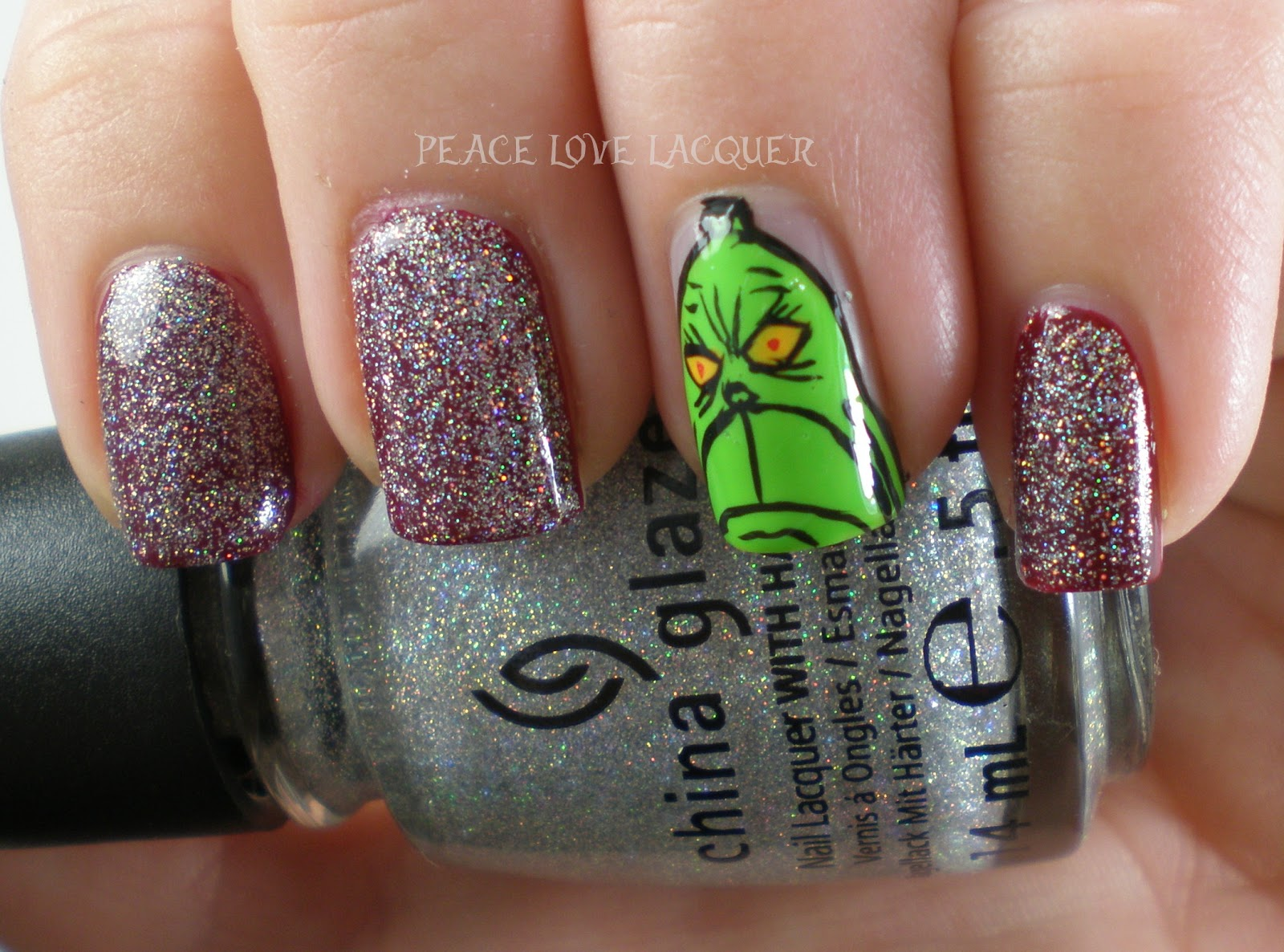 Peace Love Lacquer: 12 Days of Christmas Nail Art Days 2 - 4
