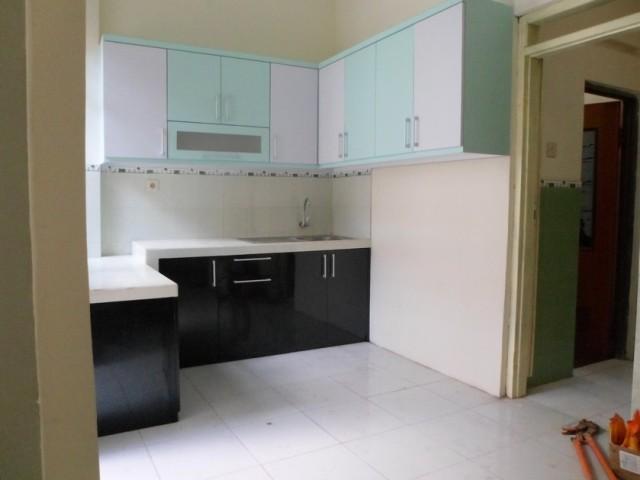 Kitchen Set Minimalis Bentuk U Finishing Hpl Corak Granit Kitchen