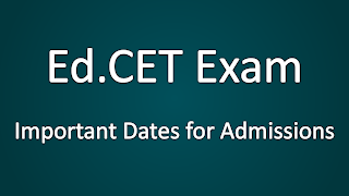 Edcet Important Dates for Counseling and Admissions