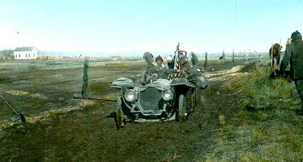 The New York to Paris Great Race of 1908, colorized