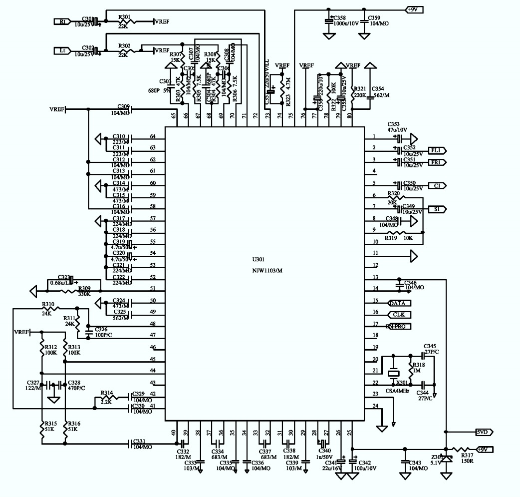 jbl esc230 120v speaker system  u2013 schematic  u2013 wiring diagram