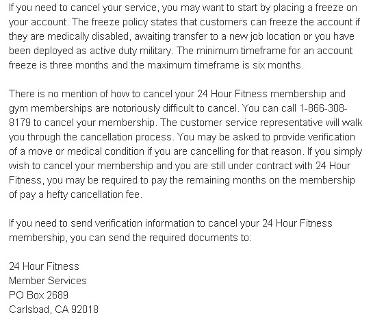 Gym Membership Cancellation Letter Sample Images