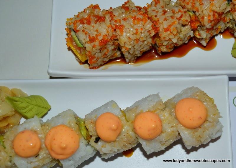 Japanese rolls at Chez Sushi Dubai Marina