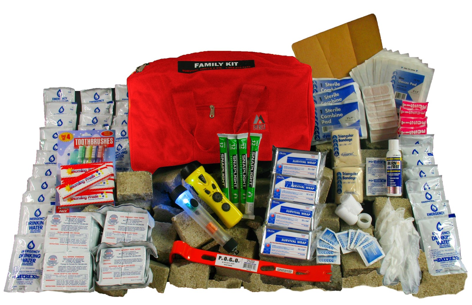 survival pack and emergency preparedness kit