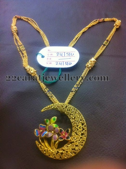 24 Grams Fancy Necklace Jewellery Designs