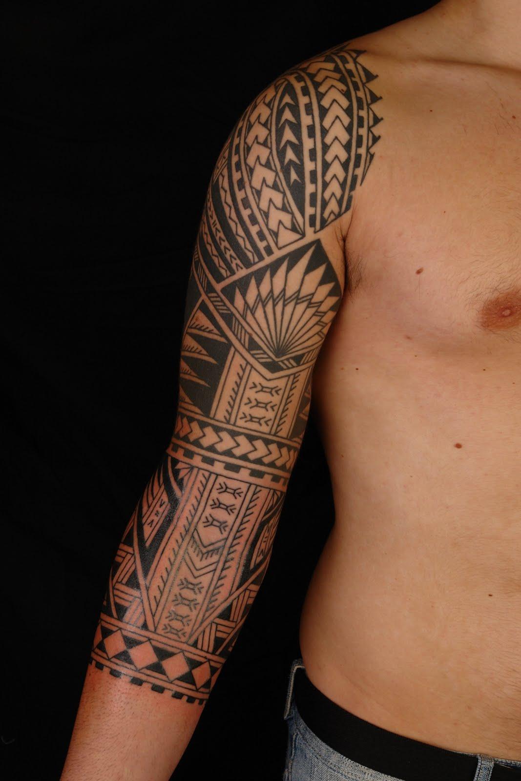 Polynesian Sleeve Tattoo