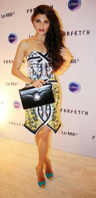 Jacqueline Fernandes at the Farfetch-Le Mill launch party