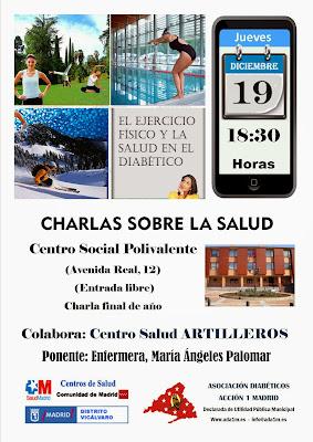 Conferencias en Vicálvaro, semana 16 a 20 diciembre