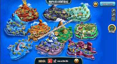 imagen del mapa de aventuras de monster legends