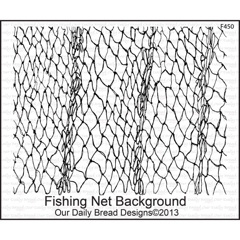 Fishing Net Background 064885 5 X 675 Cling Rubber Stamp 1299 Plus Shipping