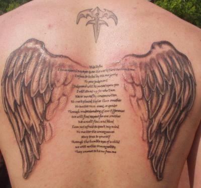 Angel Wing Tattoos on Angel Wings Tattoo   Angel Wings Tattoo Ideas