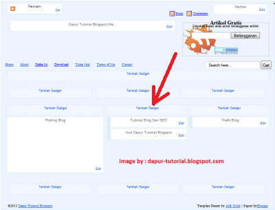Element Halaman Blogspot