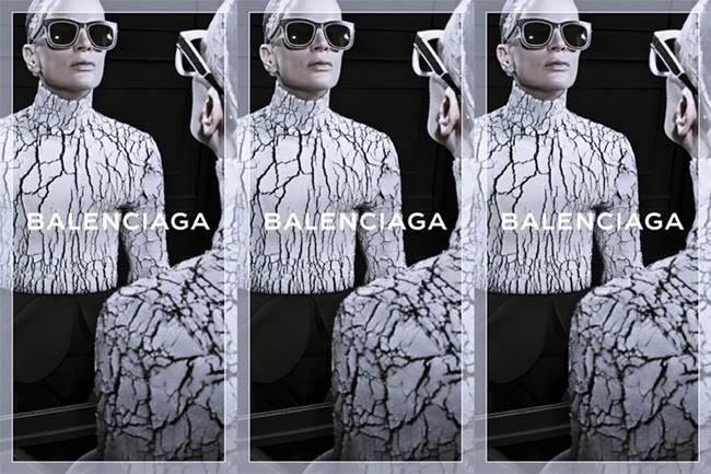 Balenciaga 2013 FW Crackled Turtleneck Top