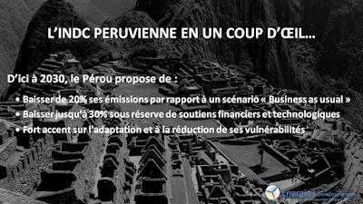 INDC péruvienne : les engagements pour le climat du Pérou avant la COP21