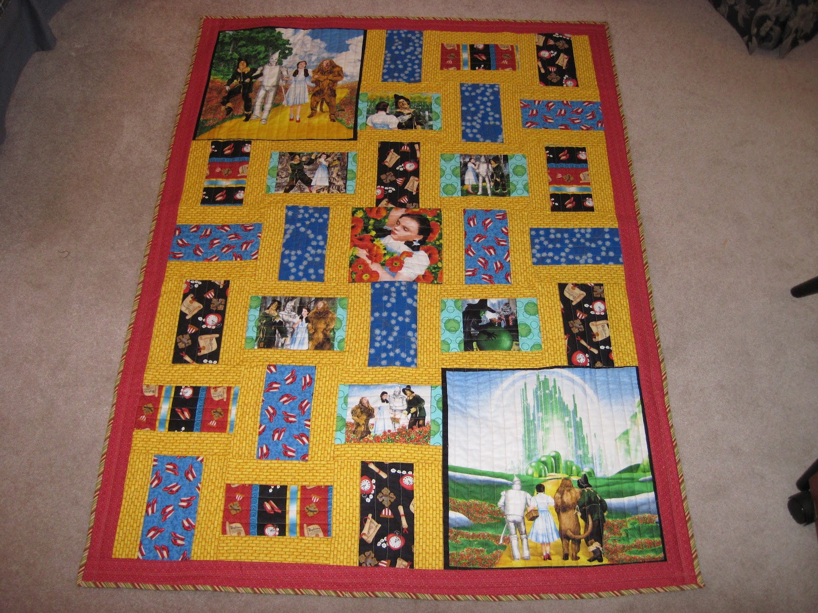 Yellow Brick Road Quilt Pattern Free New Decorating
