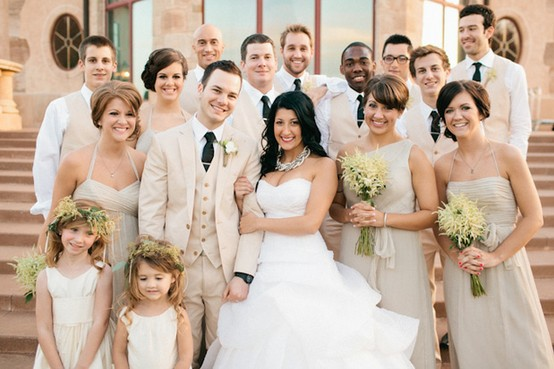 Member Of The Wedding Party To Wear Greenwell With Exception A Tie Ladies Will Champagne Color And Men Tan Suits