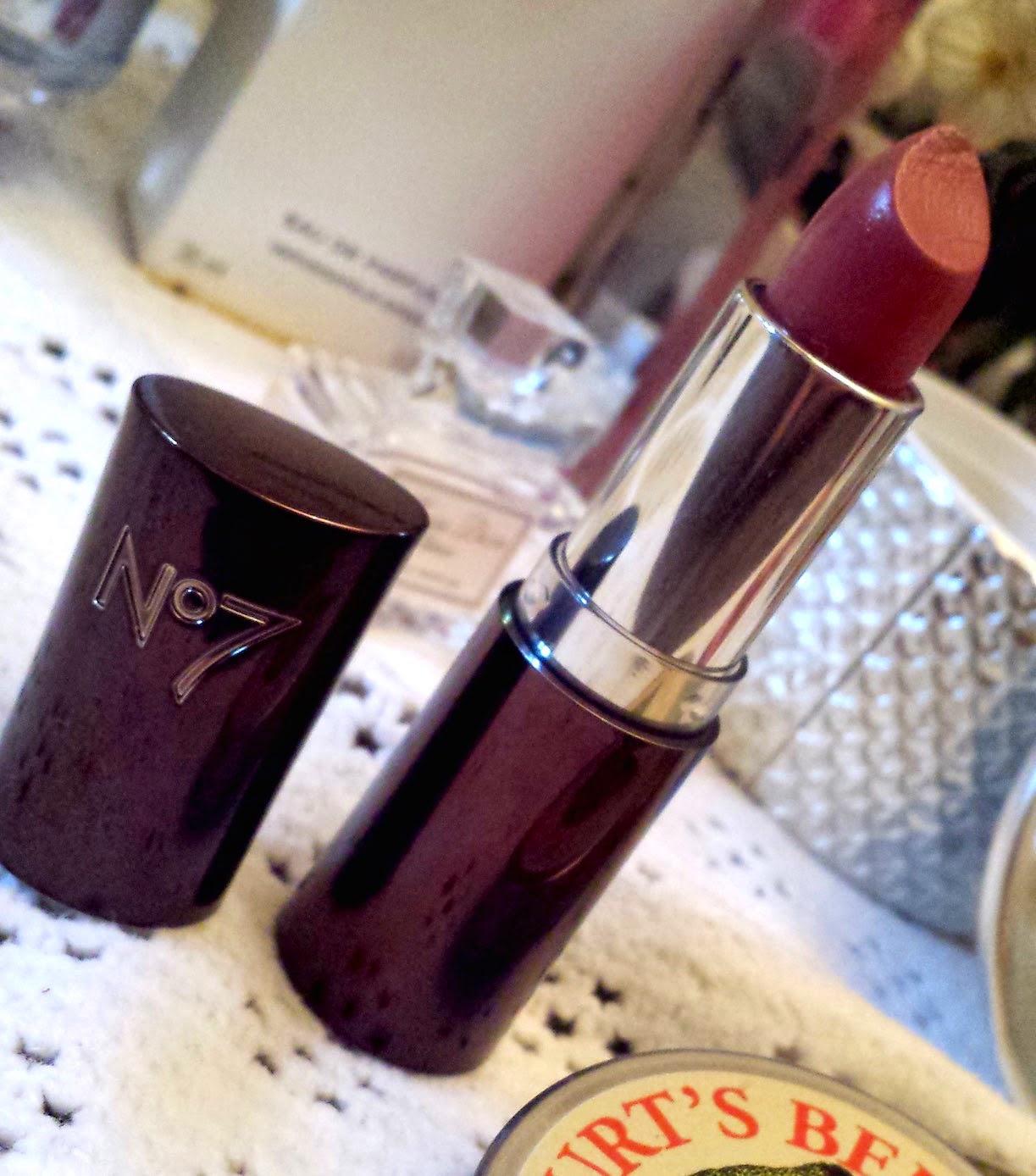 No7 Moisture Drench Lipstick in Chic