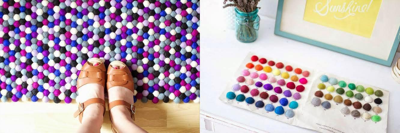 color felt ball rug