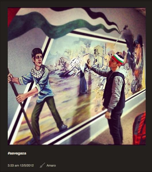 Gambar Afdlin Shauki, Bront Palarae Dan Zain Saidin di Gaza