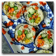 Homemade Vegetarian Sushi